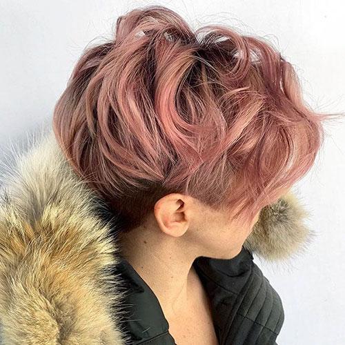 Colour Pixie Haircut
