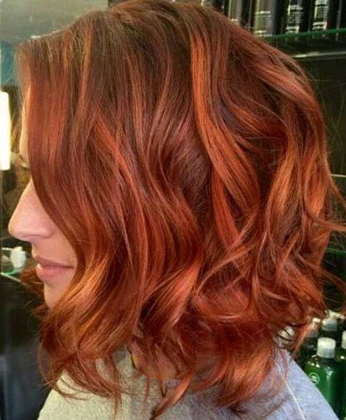 Red Hair Bob Haircut