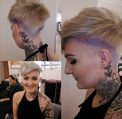 Short Hairstyles Back And Front Pictures
