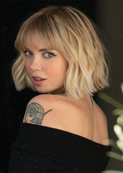 Bob Cut With Bangs