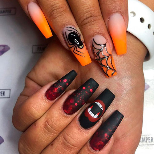 Halloween Coffin Nails