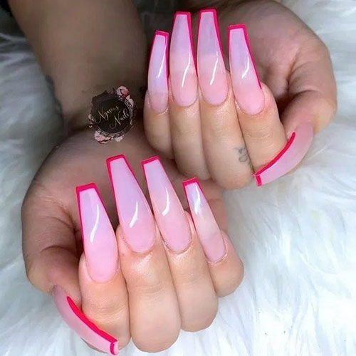 Coffin Cute Nails