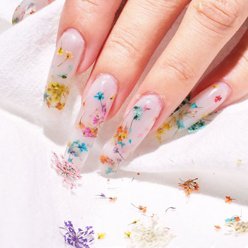 Dried Pressed Flowers For Nails