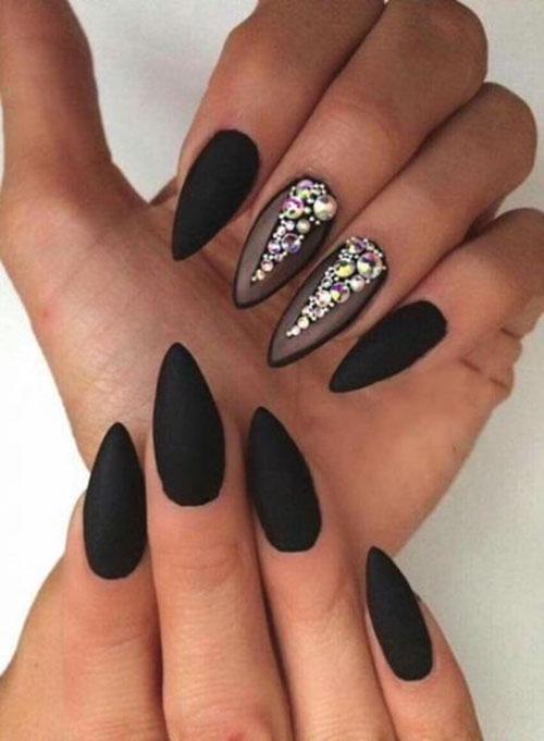 Gothic Almond Nails