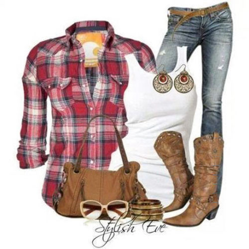 Cute Cowgirl Outfit Ideas