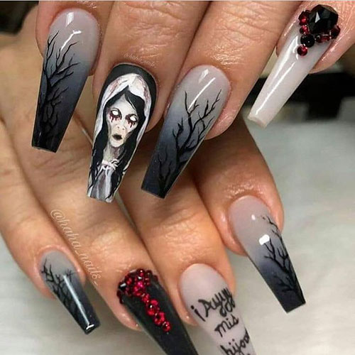 Halloween Nails Coffin