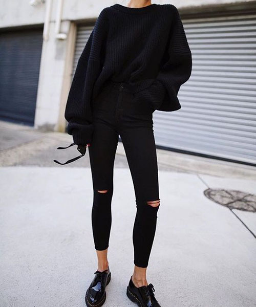 Outfits With Black Jeggings