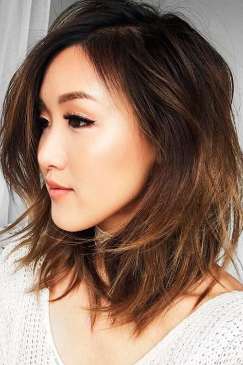Lob Hairstyles For Oval Face
