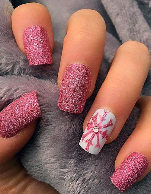 Christmas Nail Designs Snowflakes