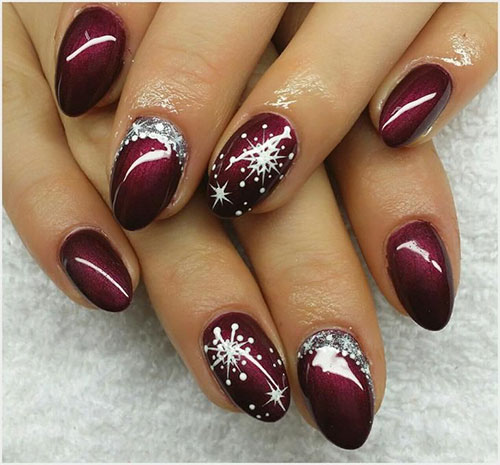 Christmas Snowflake Nails Designs