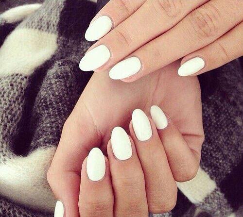 White Acrylic Nails Short
