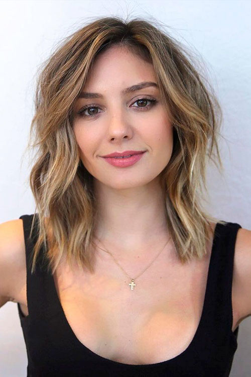 Lob Hairstyles For Round Faces
