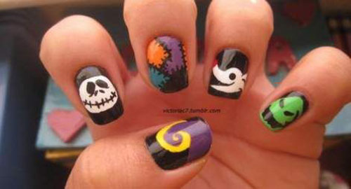 Nightmare Before Christmas Nail Designs