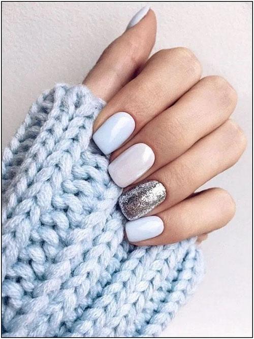 Short Acrylic Nails White