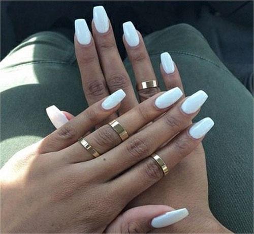 Nice White Acrylic Nails