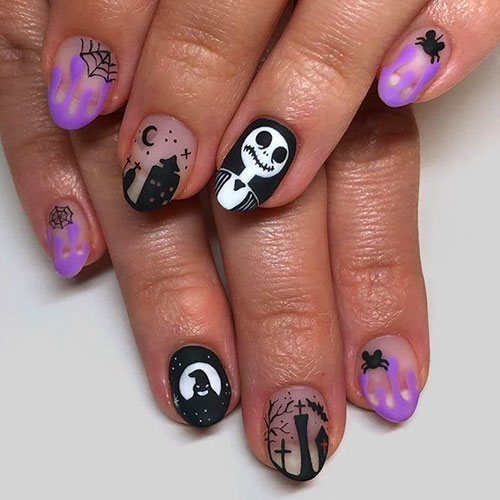 Nightmare Before Christmas Nails Designs