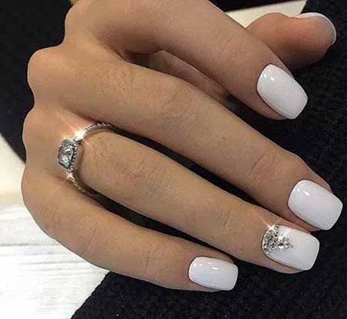 Acrylic Nails Short White
